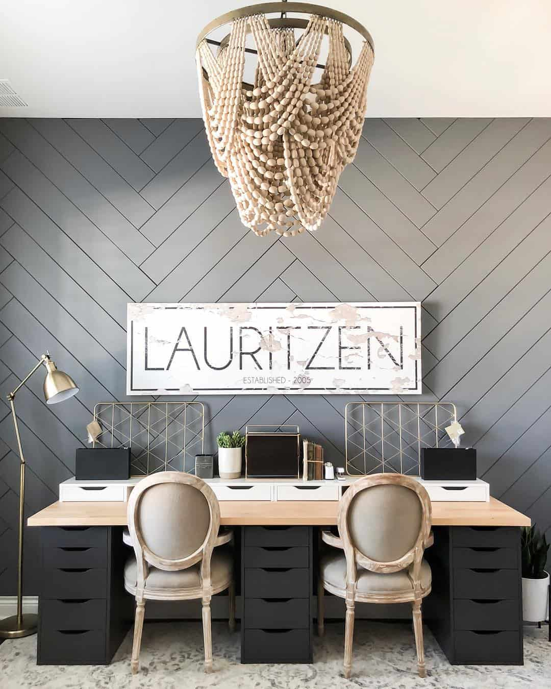 bold wallpaper in office