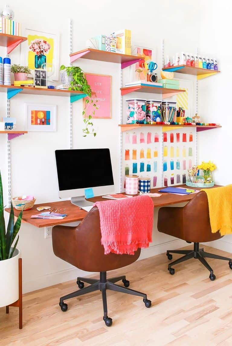bright accessories Home office Ideas to Improve Productivity