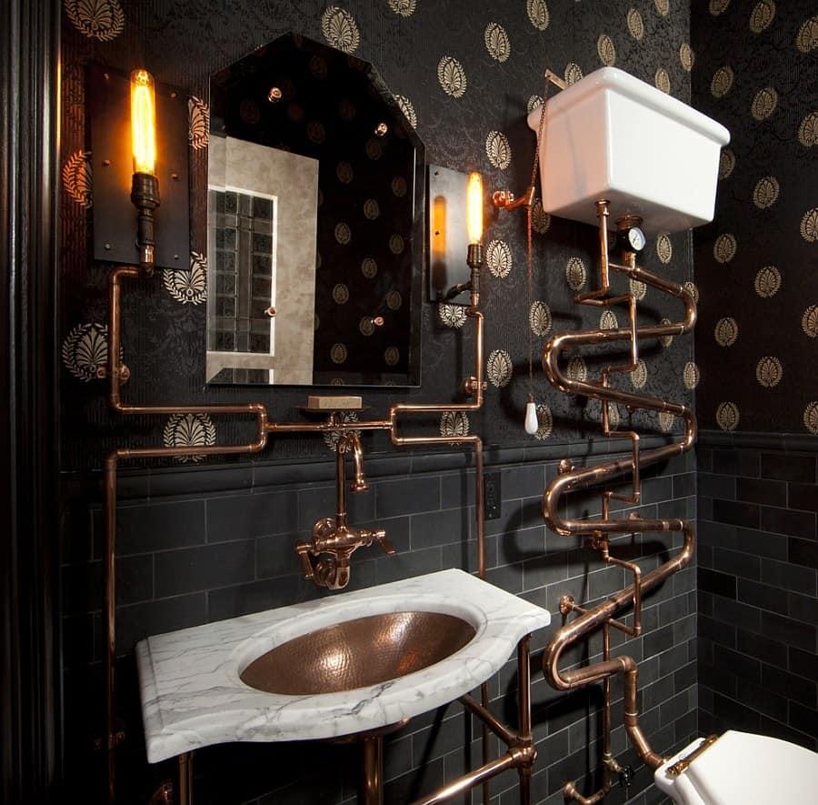 metals in bathroom