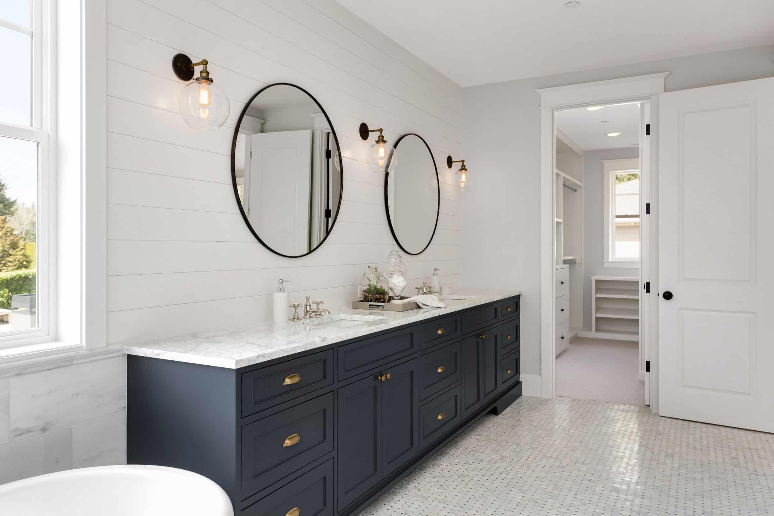 new vanity in bathroom