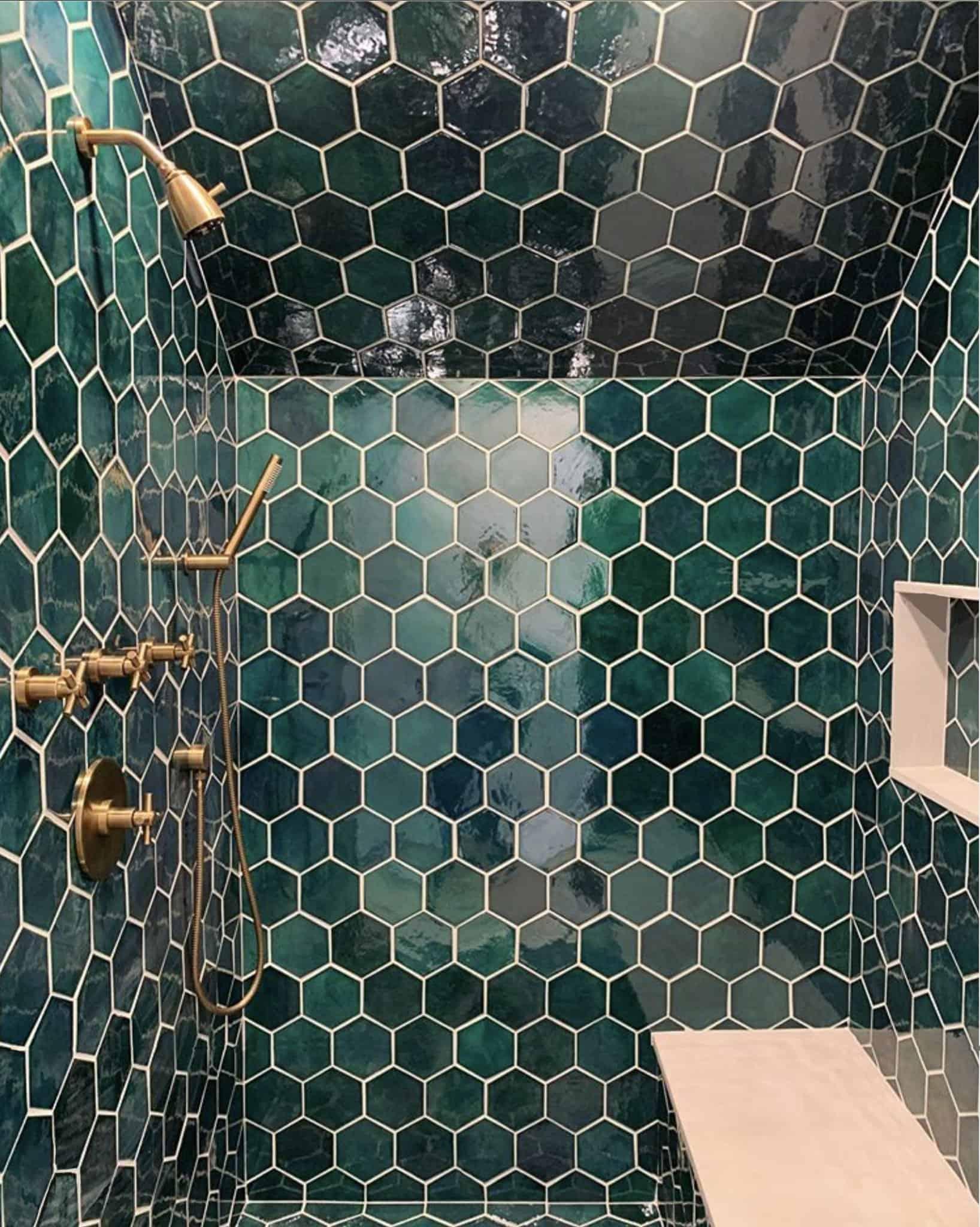 teal walls in bathroom