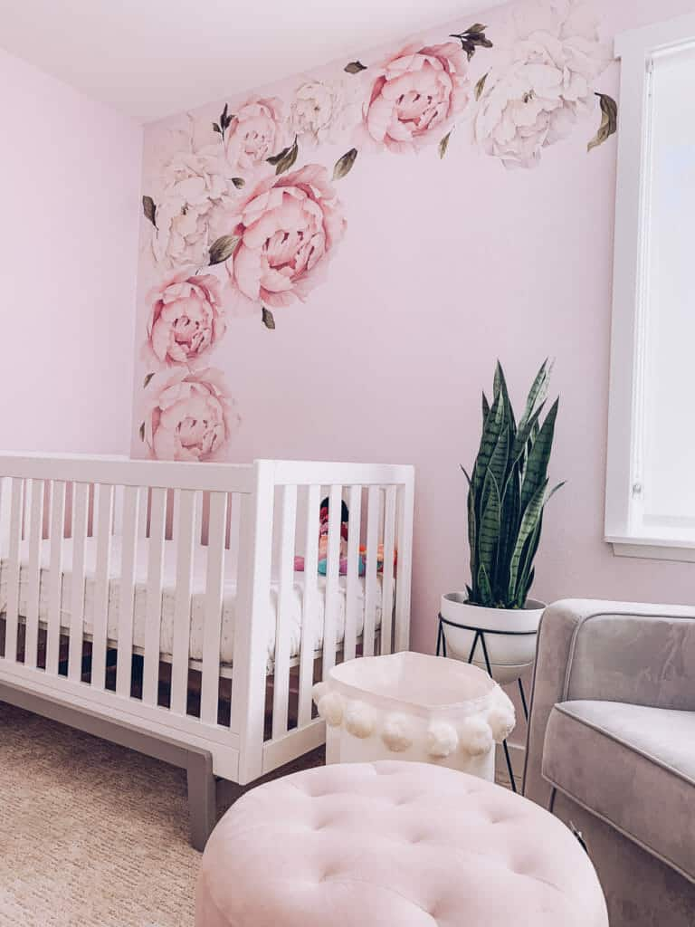 floral and blus 22 Whimsical Baby Girl Nursery Decorating Ideas