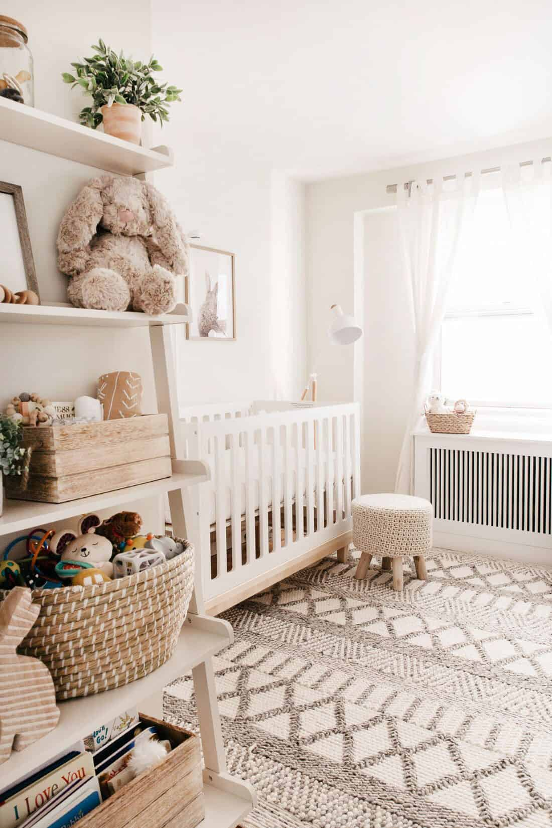 neutral girl nursery