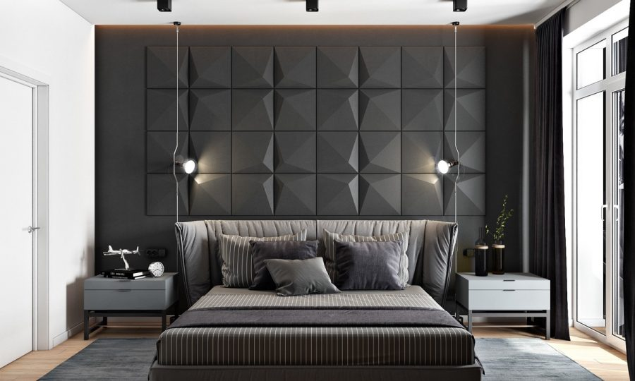black wall 900x540 10 Modern Bedroom Ideas For Couples
