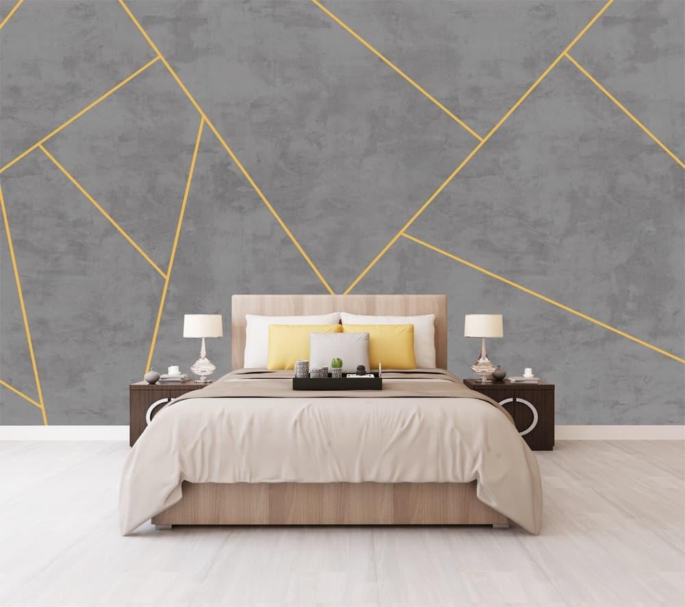 geometric bedroom