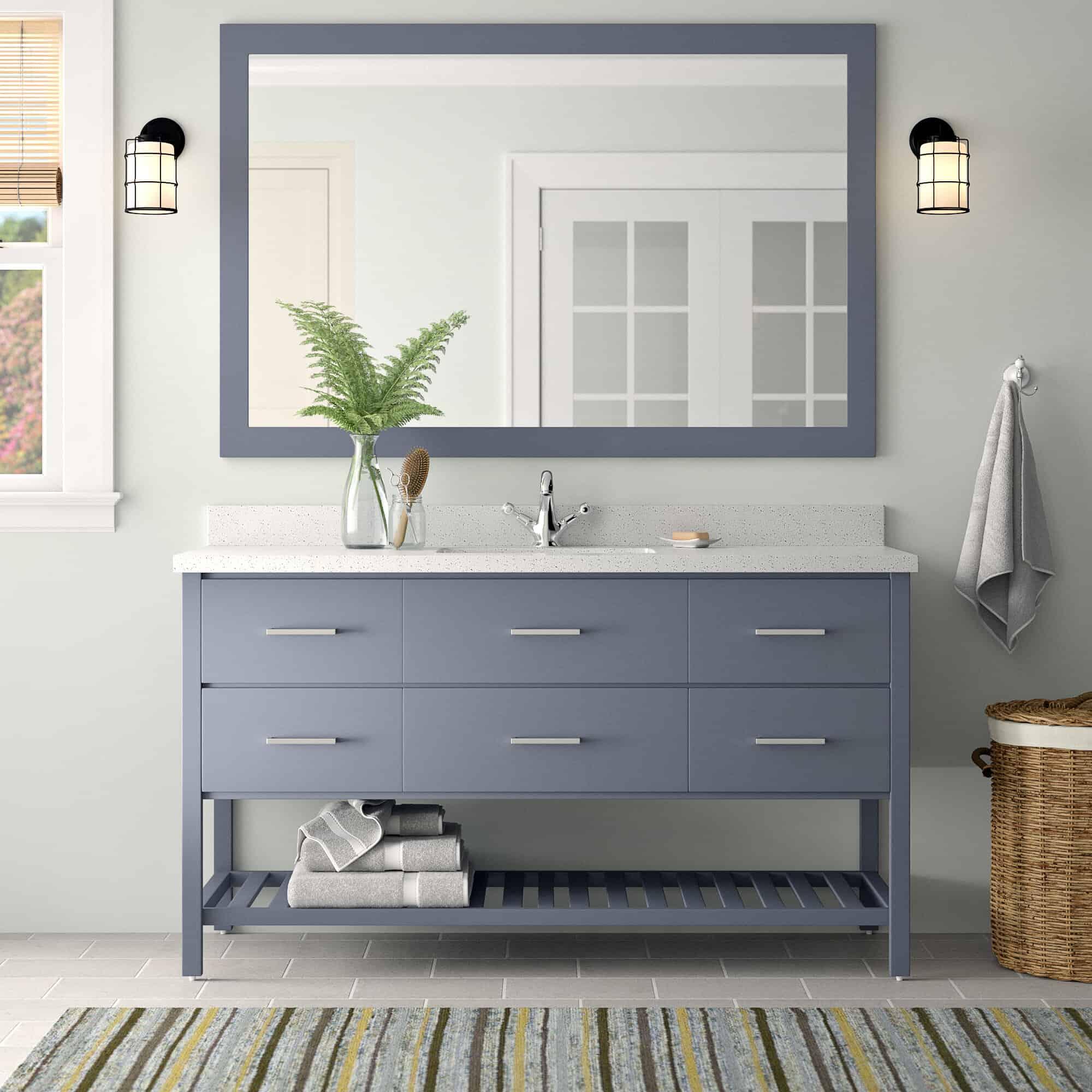 minimal bathroom vanity Update your bathroom with one of these vanity cabinet ideas!