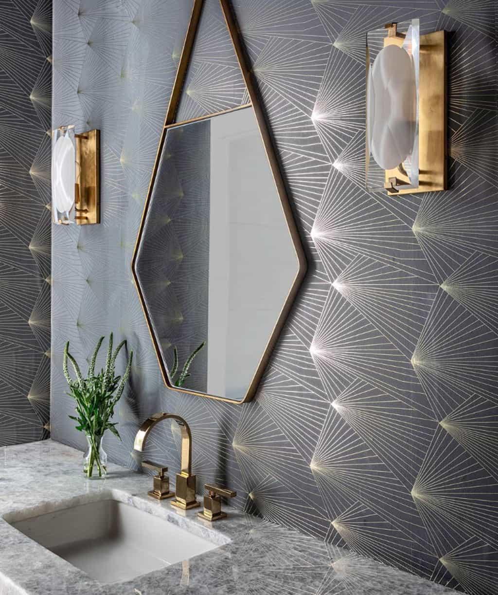 unique mirror bathroom'