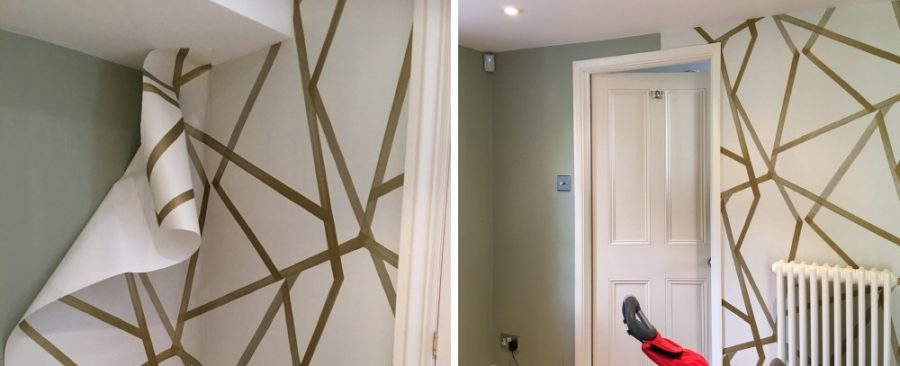 How to spruce the walls with a modern wallpaper 900x366 The Best Ways to Incorporate Wallpaper into Your Living Room