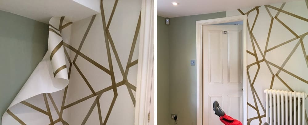 How to spruce the walls with a modern wallpaper