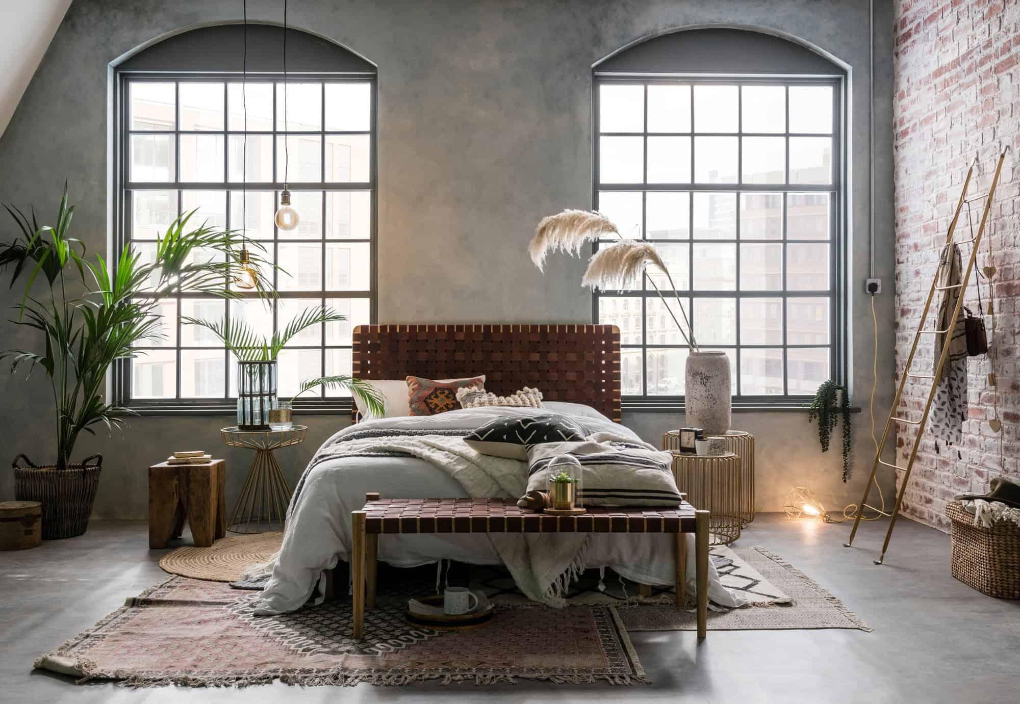 industrial in bedroom
