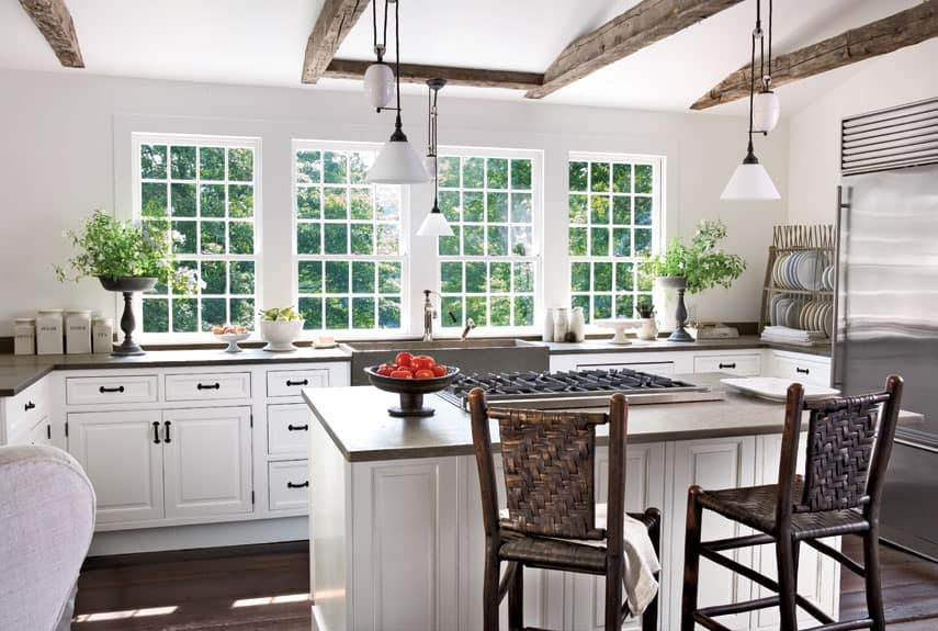 37 bright white kitchens to emulate your own after for Small white country kitchen
