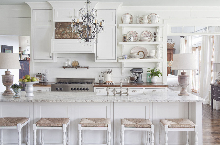 View In Gallery Elegant White Kitchen