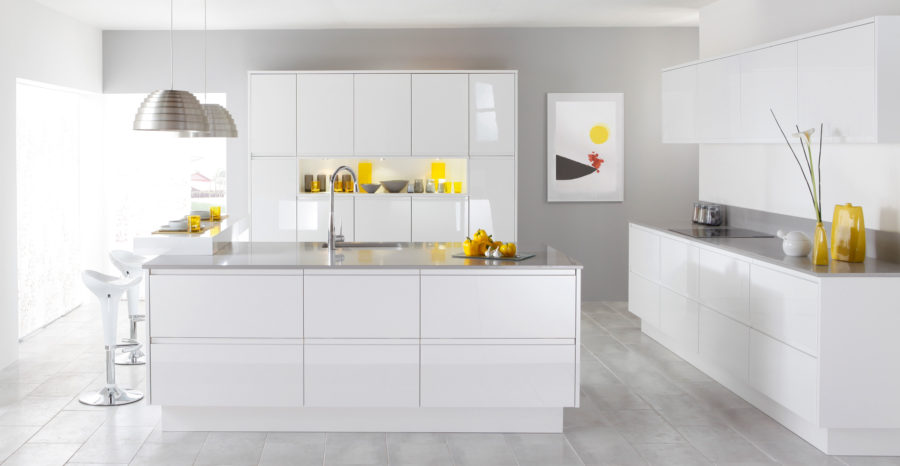 White Kitchen Flooring Ideas Part - 39: View In Gallery Modern-White-Kitchen