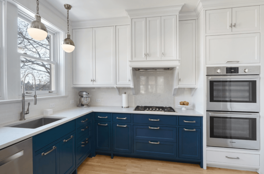 View In Gallery Blue White Kitchen