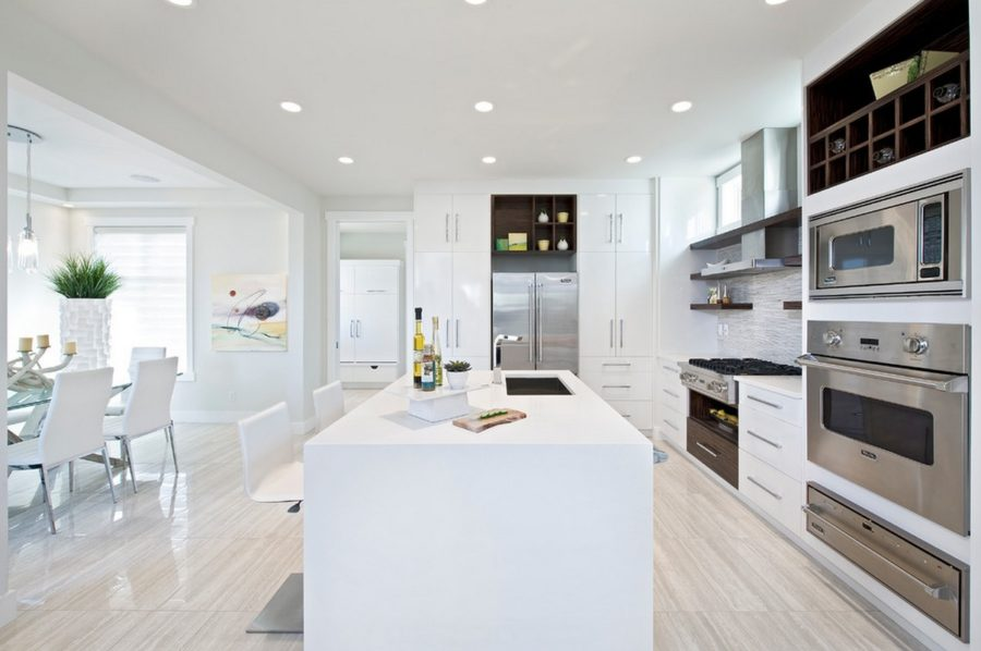 View In Gallery Decorating With White Contemporary Kitchen