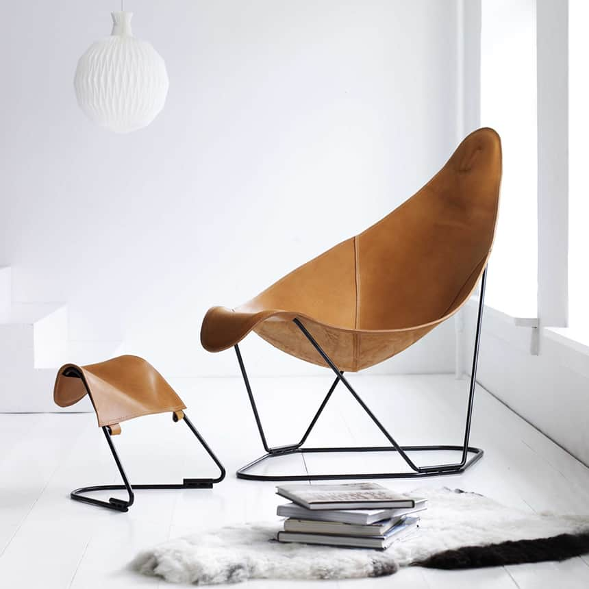 Cuero Handcrafts Four Versions of Butterfly Chair