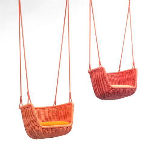 suspended garden chair and swing seat by paola lenti