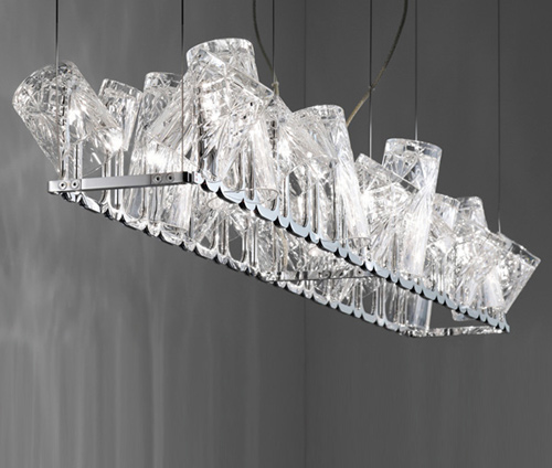 small crystal lamps by fabbian dono