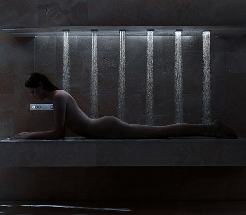 horizontal shower donbracht 7 Horizontal Shower by Dornbracht