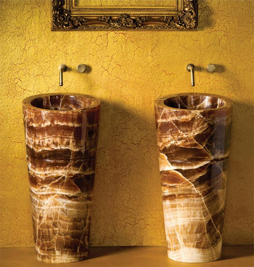 Onyx Pedestal Sink by Stone Forest