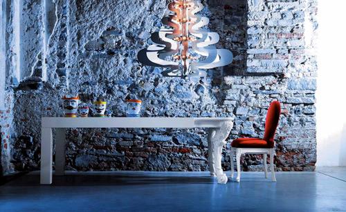 creazioni Il capo dining table 2 Dramatic Dining Table by Creazioni   Il Capo