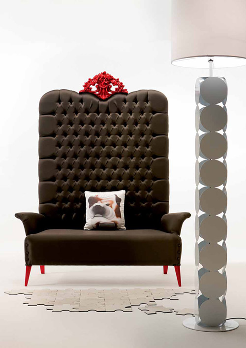 megatizzi buttoned armchair creazioni 1 Buttoned Armchair by Creazioni