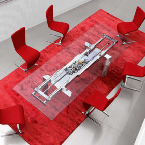 Extendable Dining Table by Roche Bobois – Astrolab