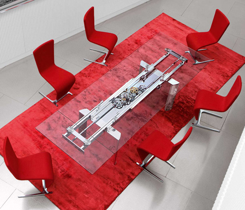 View In Gallery Table Astrolab Roche Bobois 1 Extendable Dining By