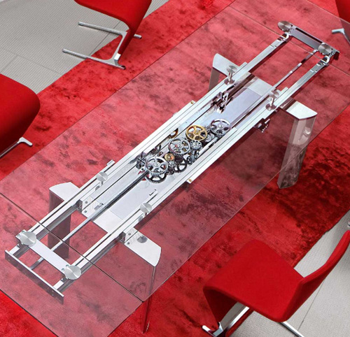 View In Gallery Table Astrolab Roche Bobois 2 Extendable Dining By
