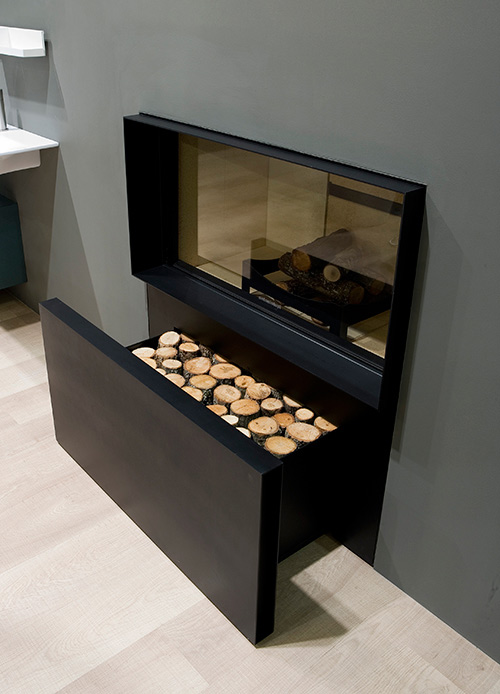 gas log fireplace skemabox antonio lupi 1 Gas Log Fireplace by Antonio Lupi   Skemabox