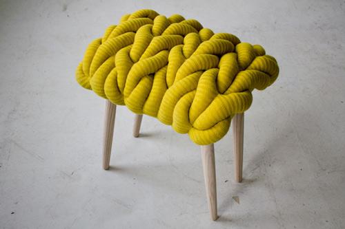 fun knitted stool cushions claire anne o'brien 3