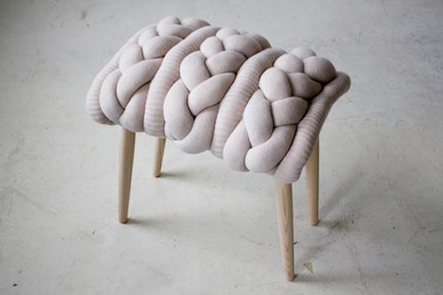 fun knitted stool cushions claire anne o'brien 4
