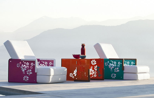 outdoor convertible furniture ego paris kube collection 1 Outdoor Convertible Furniture by Ego Paris   Kube Collection