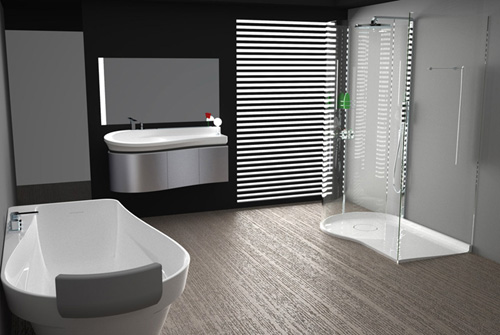 sleek modern bathroom collection bluform prima 1