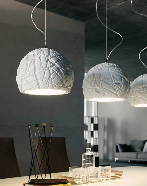 white pendant lights artic cattelan italia 1 White Pendant Lights by Cattelan Italia