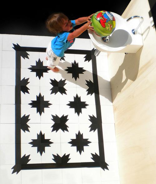 cement tile rug designs wet floor 2 Cement Tile Rug Designs by Wet   Wet Floor