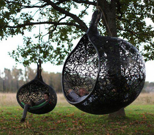 cool hanging chair manu nest maffam freeform 4 Cool Hanging Chair made of Volcanic Rock by Maffam Freeform
