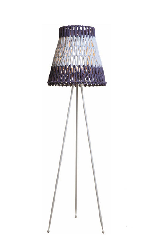 knottee hanging lamp floor lamp kenneth cobonpue hive 2 Knit Lamp Shades by Kenneth Cobonpue   Knottee