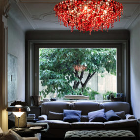 Red Crystal Chandelier by Lolli Memmoli