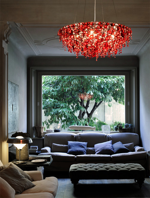 Red Crystal Chandelier By Lolli Memmoli - Chandelier crystals red