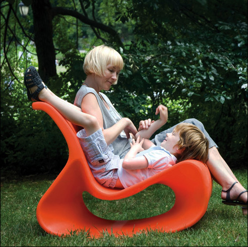 orange lounge chair mod lounger offi 2 OrangeLounge Chair by Offi   Mod Lounger