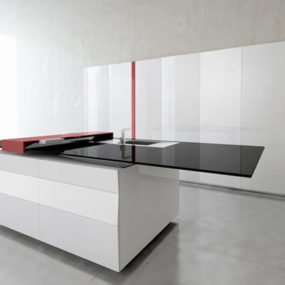 Smart Kitchen by Toncelli with built-in Samsung Galaxy Tablet