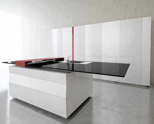 hi tech kitchen toncelli prisma 1 Smart Kitchen by Toncelli with built in Samsung Galaxy Tablet