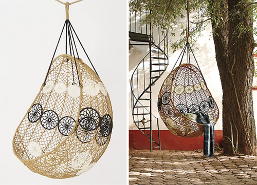 knotted melati hanging chair 1 Knotted Hanging Chair Melati by Anthropologie
