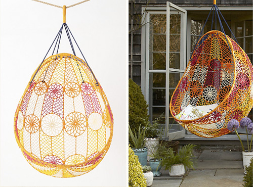 View In Gallery Knotted Melati Hanging Chair 2 Knotted Hanging Chair Melati  By Anthropologie