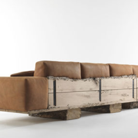 Rustic Wood Sofa Utah by Riva