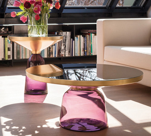 handmade glass tables classicon bell 1 Handmade Glass Tables by Classicon   Bell