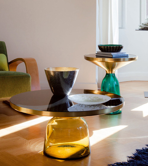 handmade glass tables classicon bell 2 Handmade Glass Tables by Classicon   Bell