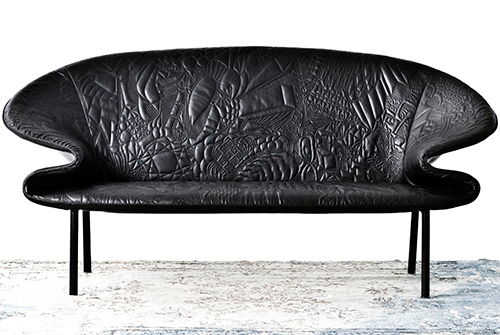 Creative Leather Sofa Design by Moroso – Doodle couch