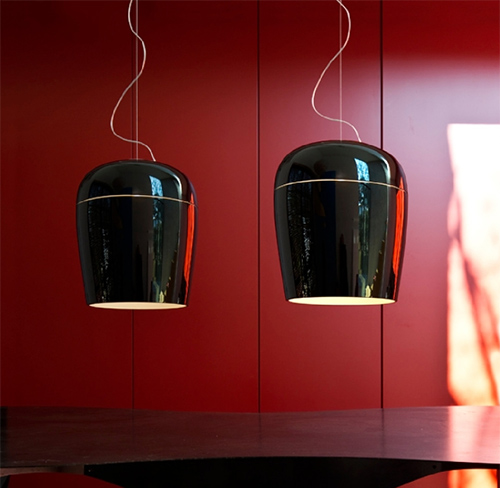 blown glass pendant lamps prandina 1 Blown Glass Pendant Lamps by Prandina